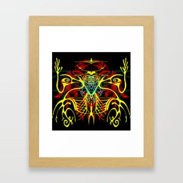 We come in peace Framed Art Print