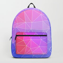 Abstract Colorful Flashy Geometric Triangulate Design Backpack