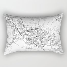 Bilbao White Map Rectangular Pillow