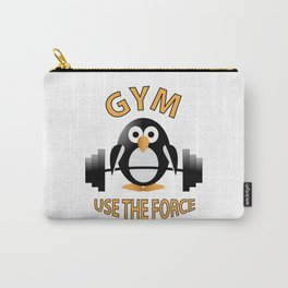 Penguin with a barbell Carry-All Pouch
