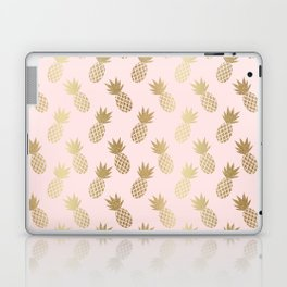 Pink & Gold Pineapples Pattern Laptop & iPad Skin
