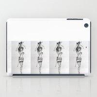 burlesque iPad Cases featuring Burlesque by Frances Roughton