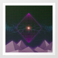 Neon Big Bang Art Print