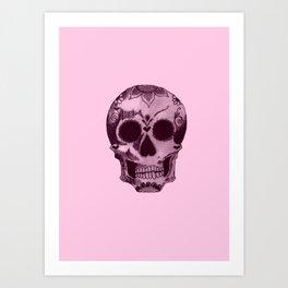 candyfloss skull Art Print