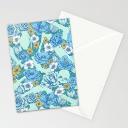 Weapon Floral-Blue Stationery Cards
