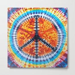 Tie Dye Peace Sign Metal Print