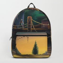 The Church Atop The Hill Backpack