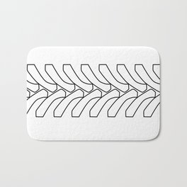 Tractor Tyre Tread Outline Bath Mat