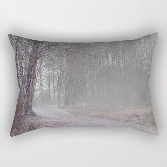 Walk in the Foggy Morning Rectangular Pillow