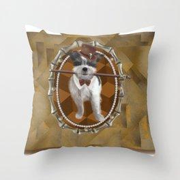 Steam Terrier Throw Pillow
