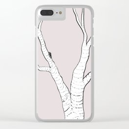 Birch Tree Illustration Clear iPhone Case