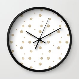 Gold Polka Dot Wall Clock