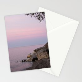 Lake Michigan Summer Golden Hour Sunset Pastel Water and Sky Southeast Wisconsin Stationery Cards