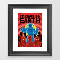 IT CAME TO EARTH Framed Art Print