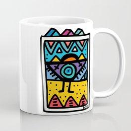 African Street Art Graffiti Purple Comic Coffee Mug