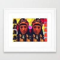 postcard Framed Art Prints featuring POSTCARD  by Mohini Hewa