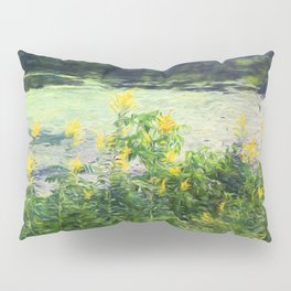 Flowers by the Water's Edge Pillow Sham