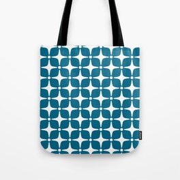 Mid Century Modern Star Pattern Peacock Blue 2 Tote Bag