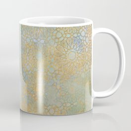 gold arabesque vintage geometric pattern Coffee Mug