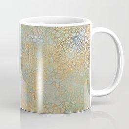 gold arabesque vintage geometric pattern Coffee Mug