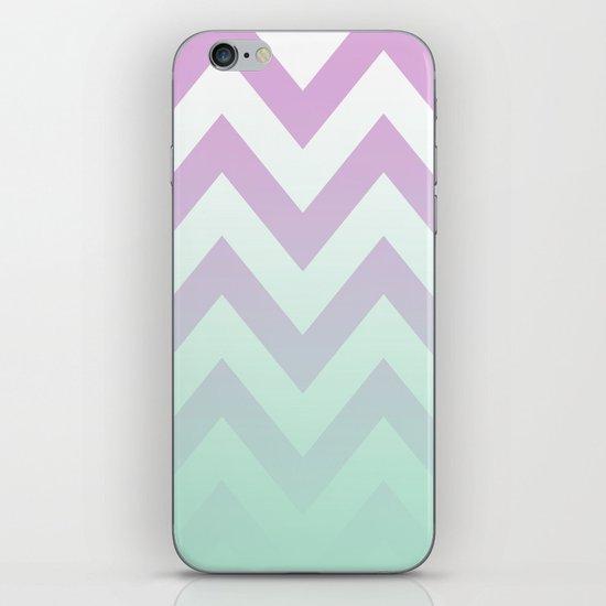 PINK CHEVRON MINT FADE iPhone & iPod Skin