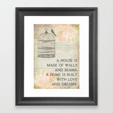 Rustic Birdcage Framed Art Print