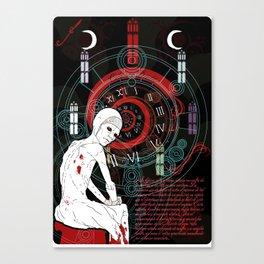 La máscara de la muerte roja Canvas Print