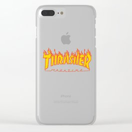 THRASHER Clear iPhone Case