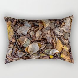 Fallen autumnal leaves Rectangular Pillow