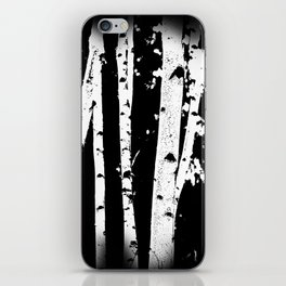 Black and White Birch Trees Fade Out iPhone Skin