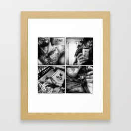 Norman half portraits Framed Art Print