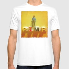 Lando at the Partay MEDIUM White Mens Fitted Tee