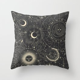 Space patterns Throw Pillow