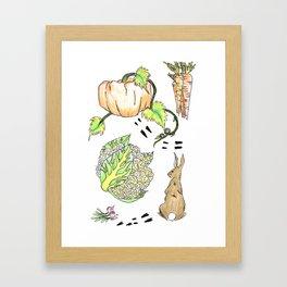 Bunny in The Veg Patch Framed Art Print