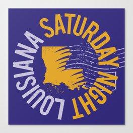 Louisiana Saturday Night Canvas Print