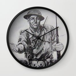 World War Wall Clock
