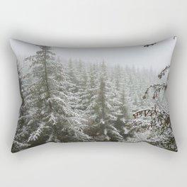 Frosty Forest Rectangular Pillow