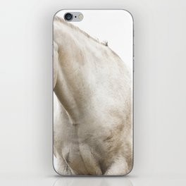 White Horse Photograph iPhone Skin
