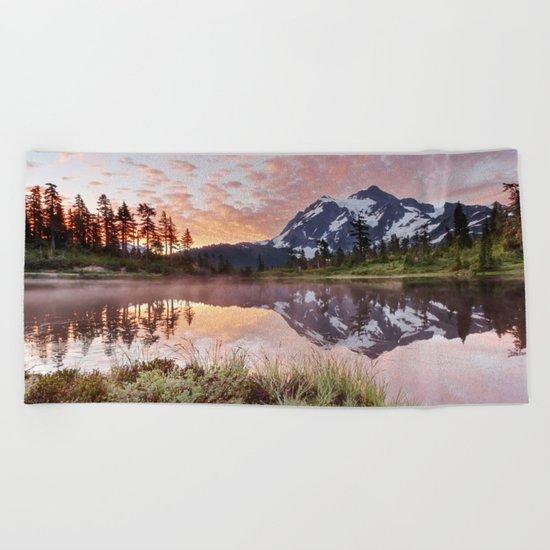Mt Shuksan Beach Towel