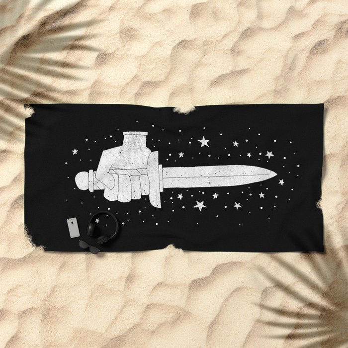MAGIC DAGGER Beach Towel