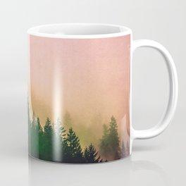 Cascadia Green Trees and Sunset Coffee Mug