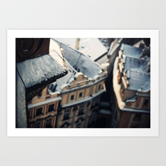Looking down on Old Town Art Print