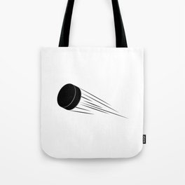 Ice Hockey Puck Tote Bag