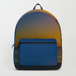 Setting Sun And Sea Backpack