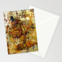 The departure of the Sicilian mailman Stationery Cards