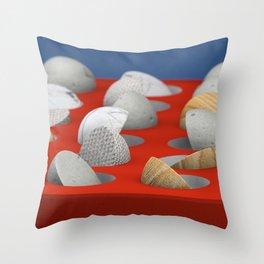 MARBLE - WOOD - CONCRETE - COTTON II Throw Pillow