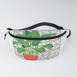 Breeze Block Wall and Mod Planter Fanny Pack