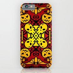Halloween Illustration - Dark, Red, Orange iPhone 6s Slim Case