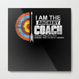 Archery Coach Metal Print