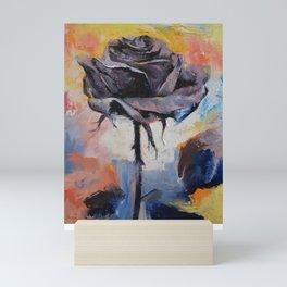 Black Rose Mini Art Print
